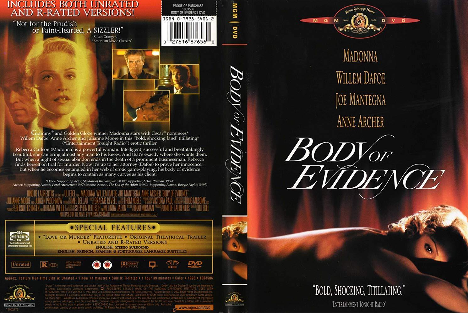 مشاهدة فيلم Body Of Evidence 1993 HD مترجم كامل اون لاين